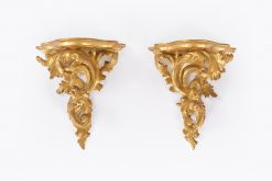10497 - 18th Century George III Pair of Miniature Giltwood Wall Brackets