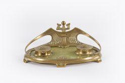 10515 - Art Noveau Brass and Marble Desk Set after Herman Eichberg