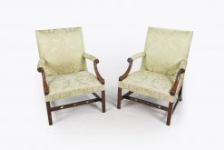 10519 - 18th Century George III Pair of Gainsborough Chairs