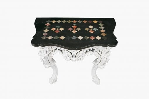 10351 - 18th Century Gesso and Marble Console Table